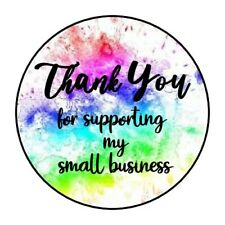 """THANK YOU FOR SUPPORTING PAINT STICKER LABEL ENVELOPE SEAL 1.2"""" OR 1.5"""" ROUND"""