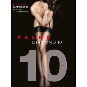 Falke Diamond 10 Ultra-Transparent Stocking Color: Powder Size Medium 41502 - 08