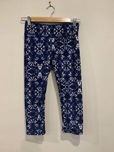 Cotton On Body Blue Tie Dye 3/4 Leggings Gym Yoga Size Small