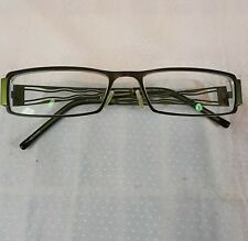 Taka T2652 Women's Eyeglasses Frames 54-17-135 Jade Green Cut Metal Leaf