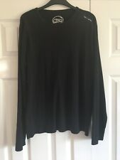 Teddy Smith Black Long Sleeve Top T Shirt Size L