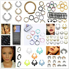 Fake Septum Clicker Unisex Nose Ring Non Piercing Hanger Clip On Jewelry D Je