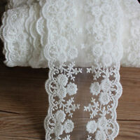 1 Yard Flower Daisy Lace Sewing Crafts Trims Embroidered Crochet Tulle Ribbons