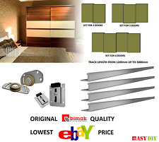 SLIDING WARDROBE DOOR GEAR TRACK SYSTEM DIY KIT DOORS UP TO 70KG UP TO 3M  TRACK