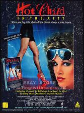 HOT CHILD IN THE CITY__Original 1987 Trade print AD__LEAH AYRES__SHARI SHATTUCK