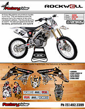 2007-2009 SUZUKI RMZ 250  DIRT BIKE GRAPHICS ROCKWELL STYLE BY ENJOY MFG
