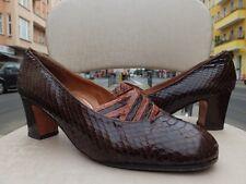CAPRINI Damen Pumps Schuhe 80er Gr. 38,5 UK 5,5  Leder Bunt 80s True VINTAGE