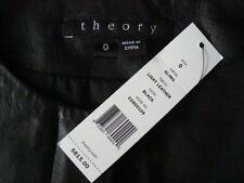 NWT$815 THEORY *ALIMO* Light Weight Genuine Soft Lamb Leather Coat Jacket Sz 0