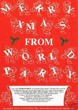 WORLD PARTY Rave Flyer Flyers A4 25/12/91 Linford Studios & Wonderland Arena