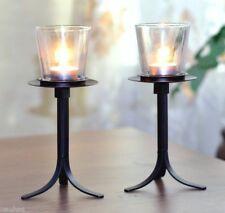 Kerzenhalter Kerze Kerzenständer Glas Windlicht Metallständer DEKO Dekoration