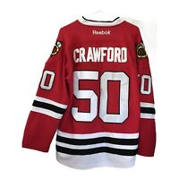 Chicago Blackhawks Crawford Reebok Edge Hockey Jersey Stitched 48 Fight Strap