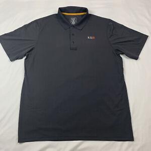 5.11 Tactical Gray Short Sleeve Polo Shirt, Men's Size Large - EUC