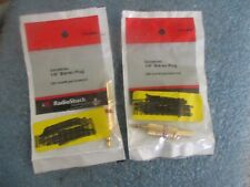 """Lot of Radio Shack Model: 274-0858  1/8"""" Stereo Plugs.  Qty. 2.  New Old Stock<"""