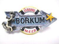 Borkum Magnet Strand Meer Anker Seestern Poly Souvenir Germany (252)