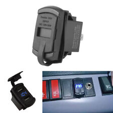 Car AUTO Blue LED Switch Style Boat Dual USB Power Supply Charger Port Socket