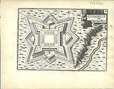 Antique map, Citadelle de Montpellier