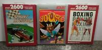LOT OF THREE GAMES FOR ATARI 2600/7800 BRAND NEW VINTAGE RARE NOS OPEN BOX #8