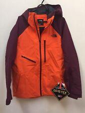 NWT The North Face Powderflow Gore-Tex® Jacket Men's L, Persian Orange/Fig