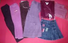 LOT FILLE-JUPE JEANS +HAUT OKAIDI-ROBE VELOURS-PANTALON  LISA ROSE-T.3 ANS