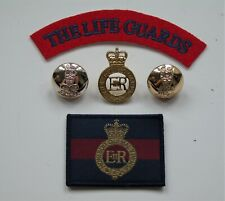 British Army Life Guards Cap Badge Buttons ID/Morale Patch & Shoulder Title