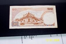 OLDER THAILAND PAPER MONEY BANKNOTE 10 BAHT *4 F 5104796 *  KING RAMA IX