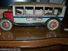 1927 Chein #550 Royal Blue Line Pullman Bus Tin RARE! AS IS for Restoration