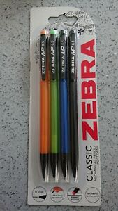 Zebra Classic Mechanical Pencil 0.5mm Refillable With Erase, PACK OF 4 FASTP&P