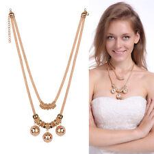 New Fashion Women Chain Collar Pendant Choker Gold Plated Statement Bib Necklace