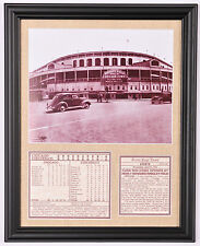 Chicago Cubs Wrigley Field Opening Day 1926 framed photo tribute