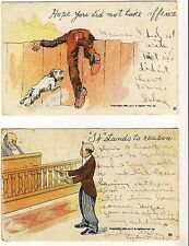 2 Copyright 1905 J.S. Ogilvie Pub Co. Comic Postcards Court, Dog -Item #PC33