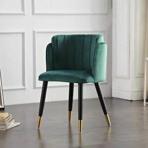 Modern Velvet Dining Chair Home Dresser Wedding Feast Sofa Stool Iron Metal