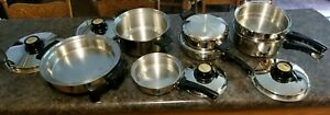 KITCHEN CRAFT by West Bend ~ Waterless Stainless Steel Cookware 12 pc Set