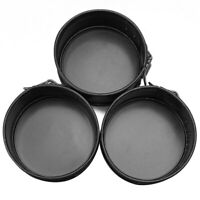 3pcs Mini Baking Springform Pan Non-Stick Cake Dessert Cheesecake 4 in RKX
