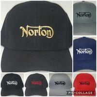 Norton MC Embroidered Baseball Hat Cap Adjustable Strap Norton Motorcycle