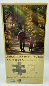 Path To The Cabin Large Piece 25 Piece Country Scene Jigsaw Puzzle Gelsinger