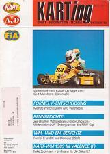 Verstappen, Schumacher Karting Magazine German Version Oktober 1989 : RARE !