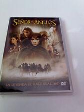"""DVD """"EL SEÑOR DE LOS ANILLOS LA COMUNIDAD DEL ANILLO"""" 2DVD COMO NUEVO PETER JACK"""