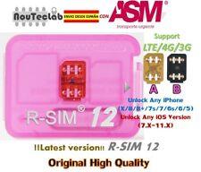 R-SIM12 R-SIM 12 LTE 4G Nano Sbloccare Card for iPhone X/8/7/6/5 IOS11.X RSIM