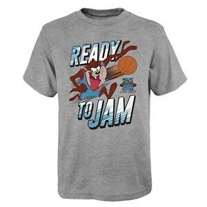 Space Jam Kinder T-Shirt Ready to Jam TAZ Devil Team New Legacy Youth NBA grau