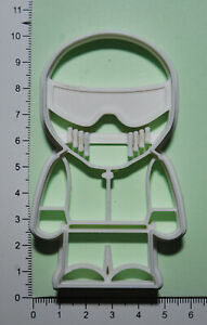 The Stig Cookie or fondant  Cutter 3d printed