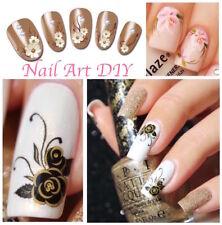 Nail Art Water Decals Transfer Stickers-Fiori Farfalle-Decorazione Unghie !