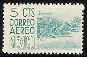 pa047a Mexico Arquite MH paper 2 Sc#C208 Mc#1021A Et#aa047a plate 1 blue-turquo