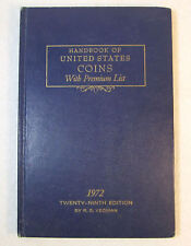 1972 Blue Book A HandBook of United States Coins Dealer Guide 29th Edition!