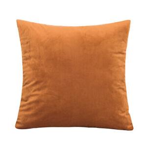 Solid Color Velvet Cushion Cover Simple Soft Pillow Case Sofa Home Decorative