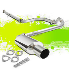 "4""TIP MUFFLER STAINLESS STEEL OE CATBACK EXHAUST PIPE FOR 89-91 CIVIC ED SEDAN"
