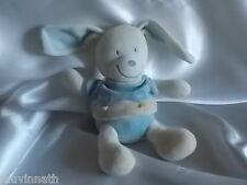 Doudou chien,lapin blanc, bleu, beige, Nicotoy, Blankie/Lovey/Newborn toy