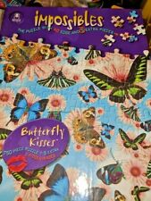 """Bepuzzled Impossibles """"Butterfly Kisses"""" 750 Piece Borderless Puzzle (NEW)"""