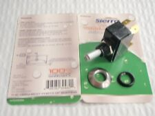 TOGGLE SWITCH CARLING 1743R 12V TG23030 SATIN CHROME MOM ON-OFF TIP LIT WHT-RED