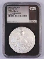 Star Wars $2 Proof 1 Oz Silver Coin, 2016 Han Solo Niue Disney, NGC PF 70 UC