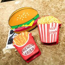Popcorn Burger French Fries Design Women's Small Shoulder Bag Coin Purse